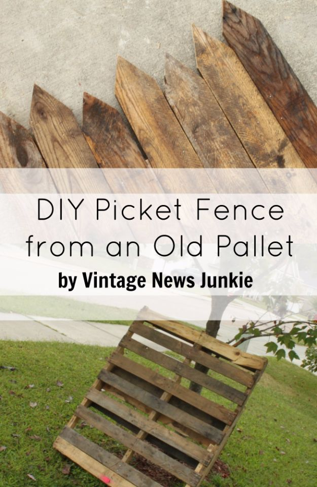 DIY Ideas With Old Fence Posts - Picket Fence - Rustic Farmhouse Decor Tutorials and Projects Made With An Old Fence Post - Easy Vintage Shelving, Wall Art, Picture Frames and Home Decor for Kitchen, Living Room and Bathroom - Creative Country Crafts, Seating, Furniture, Patio Decor and Rustic Wall Art and Accessories to Make and Sell