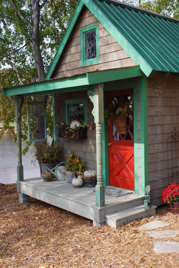 DIY Storage Sheds and Plans - Potting Shed - Cool and Easy Storage Shed Makeovers, Cheap Ideas to Build This Weekend, Basic Woodworking Projects to Add Extra Storage Space to Your Home or Small Backyard - How To Build A Shed With Pallets - Step by Step Tutorials and Instructions http://diyjoy.com/diy-storage-sheds-plans