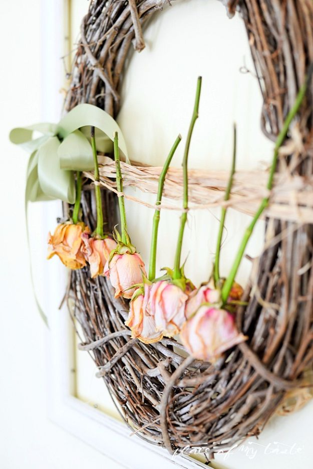 Farmhouse Decor to Make And Sell - Pretty Dried Roses - Easy DIY Home Decor and Rustic Craft Ideas - Step by Step Country Crafts, Farmhouse Decor To Make and Sell on Etsy and at Craft Fairs - Tutorials and Instructions for Creative Ways to Make Money - Best Vintage Farmhouse DIY For Living Room, Bedroom, Walls and Gifts #diydecor