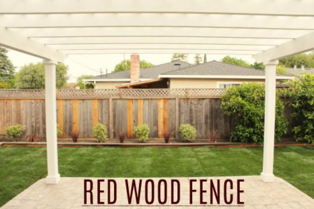DIY Ideas With Old Fence Posts - Redwood Fence - Rustic Farmhouse Decor Tutorials and Projects Made With An Old Fence Post - Easy Vintage Shelving, Wall Art, Picture Frames and Home Decor for Kitchen, Living Room and Bathroom - Creative Country Crafts, Seating, Furniture, Patio Decor and Rustic Wall Art and Accessories to Make and Sell