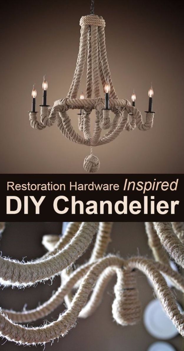 DIY Chandelier Makeovers - Restoration hardware Inspired Chandelier Makeover - Easy Ideas for Old Brass, Crystal and Ugly Gold Chandelier Makeover - Cool Before and After Projects for Chandeliers - Farmhouse, Shabby Chic and Vintage Home Decor on A Budget - Living Room, Bedroom and Dining Room Idea DIY Joy Projects and Crafts http://diyjoy.com/diy-chandelier-makeovers