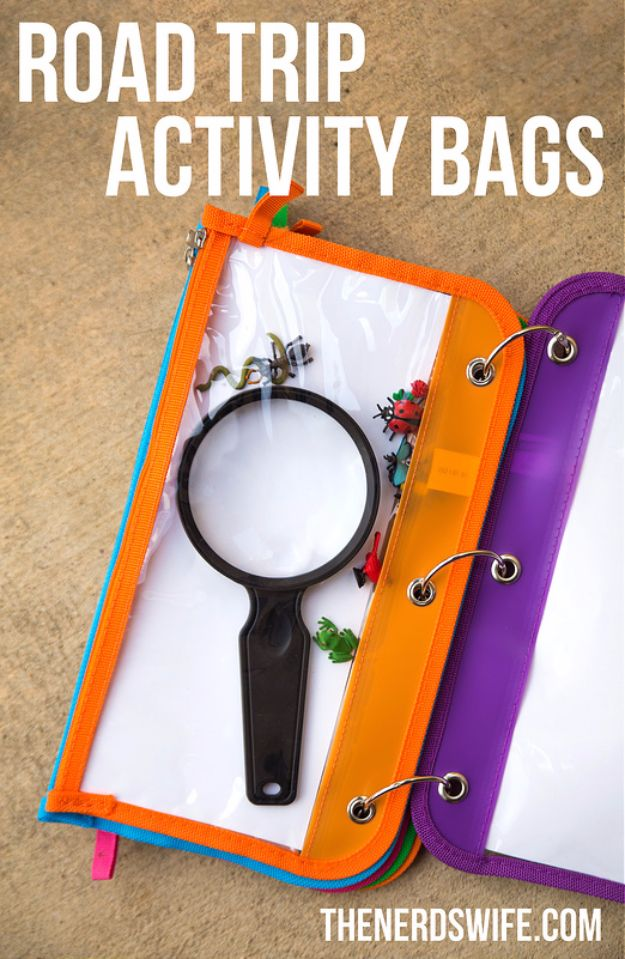 Best DIY Ideas for a Summer Road Trip - Road Trip Activity Bag - Cool Crafts and Easy Projects to Make For Road Trips in the Car - Fun Crafts to Make for Vacation - Creative Ideas for Making Cheap Travel Ideas With Creative Money Saving Tips http://diyjoy.com/diy-ideas-summer-road-trip