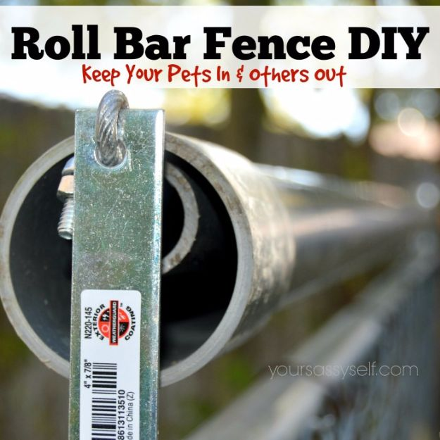 DIY Ideas With Old Fence Posts - Roll Bar Fence - Rustic Farmhouse Decor Tutorials and Projects Made With An Old Fence Post - Easy Vintage Shelving, Wall Art, Picture Frames and Home Decor for Kitchen, Living Room and Bathroom - Creative Country Crafts, Seating, Furniture, Patio Decor and Rustic Wall Art and Accessories to Make and Sell http://diyjoy.com/diy-projects-old-windows