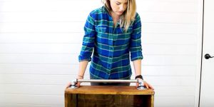 She Adds A Cool Piece Of Hardware To A Rustic Decor Piece She Made And You'll Love It!
