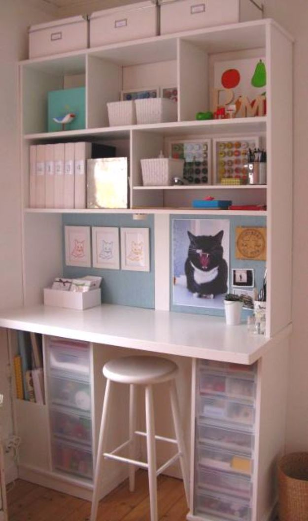 DIY Craft Room Ideas and Craft Room Organization Projects - Scrapbooking Station - Cool Ideas for Do It Yourself Craft Storage, Craft Room Decor and Organizing Project Ideas - fabric, paper, pens, creative tools, crafts supplies, shelves and sewing notions