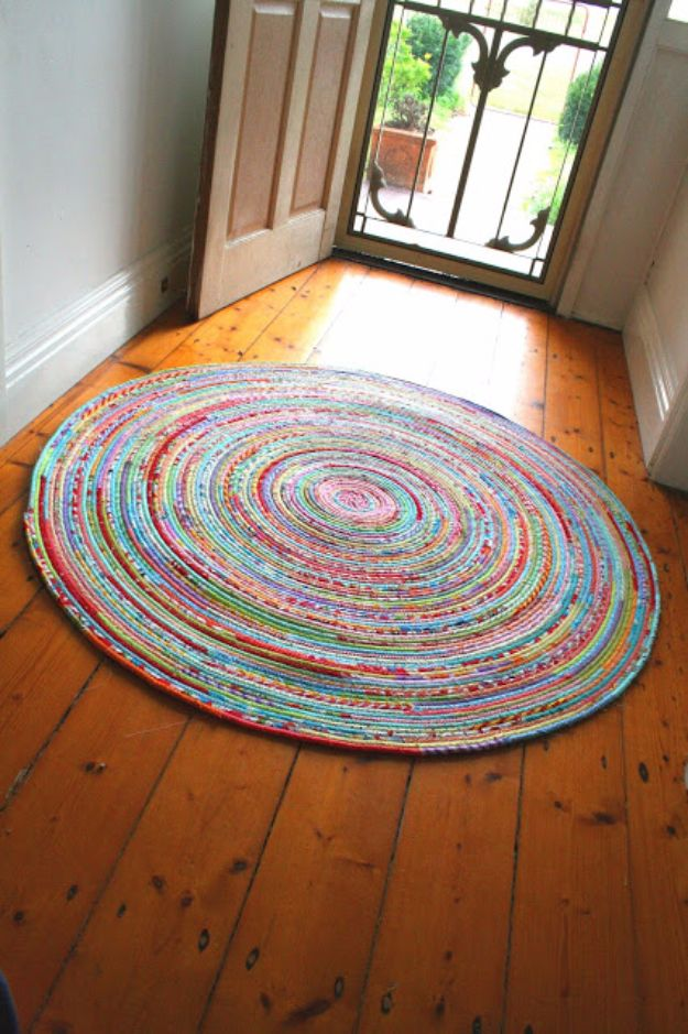 DIY Hacks for Renters - Sew A Fabric Rug - Easy Ways to Decorate and Fix Things on Rental Property - Decorate Walls, Cheap Ideas for Making an Apartment, Small Space or Tiny Closet Work For You - Quick Hacks and DIY Projects on A Budget - Step by Step Tutorials and Instructions for Simple Home Decor http://diyjoy.com/diy-hacks-renters