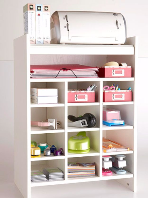 DIY Craft Room Storage Ideas and Craft Room Organization Projects - Shoe Cubbies Craft Storage - Cool Ideas for Do It Yourself Craft Storage, Craft Room Decor and Organizing Project Ideas - fabric, paper, pens, creative tools, crafts supplies, shelves and sewing notions http://diyjoy.com/diy-craft-room-storage