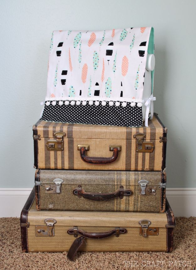 DIY Craft Room Ideas and Craft Room Organization Projects - Simple Sewing Machine Cover - Cool Ideas for Do It Yourself Craft Storage, Craft Room Decor and Organizing Project Ideas - fabric, paper, pens, creative tools, crafts supplies, shelves and sewing notions