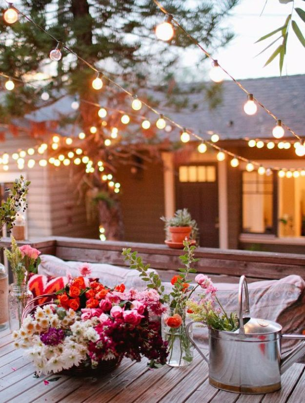 DIY Outdoor Lighting Ideas - Small Backyard Lights - Do It Yourself Lighting Ideas for the Backyard, Patio, Porch and Pool - Lights, Chandeliers, Lamps and String Lights for Your Outdoors - Dining Table and Chair Lighting, Overhead, Sconces and Weatherproof Projects #diy #lighting