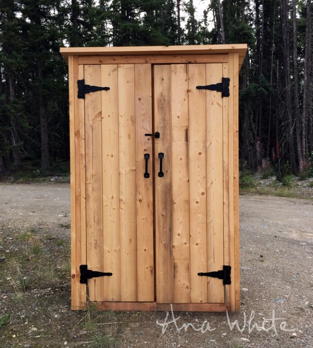DIY Storage Sheds and Plans - Small Outdoor Shed - Cool and Easy Storage Shed Makeovers, Cheap Ideas to Build This Weekend, Basic Woodworking Projects to Add Extra Storage Space to Your Home or Small Backyard - How To Build A Shed With Pallets - Step by Step Tutorials and Instructions http://diyjoy.com/diy-storage-sheds-plans