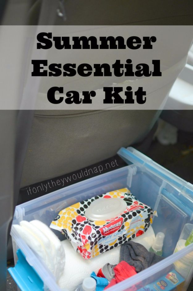 Best DIY Ideas for a Summer Road Trip - Summer Essential Car Kit - Road Trip Snacks - Cool Crafts and Easy Projects to Make For Road Trips in the Car - Fun Crafts to Make for Vacation - Creative Ideas for Making Cheap Travel Ideas With Creative Money Saving Tips