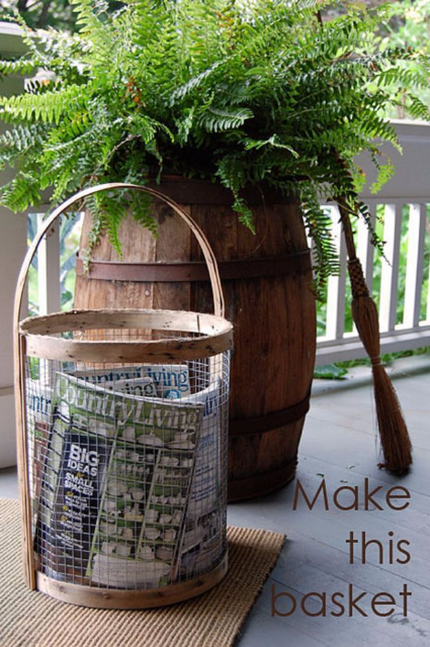 Country Crafts to Make And Sell - Super Cool Industrial Basket - Easy DIY Home Decor and Rustic Craft Ideas - Step by Step Farmhouse Decor To Make and Sell on Etsy and at Craft Fairs - Tutorials and Instructions for Creative Ways to Make Money - Best Vintage Farmhouse DIY For Living Room, Bedroom, Walls and Gifts http://diyjoy.com/country-crafts-to-make-and-sell