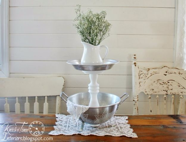 Country Crafts to Make And Sell - Tiered Stands with Repurposed Bowls and Tins - Easy DIY Home Decor and Rustic Craft Ideas - Step by Step Farmhouse Decor To Make and Sell on Etsy and at Craft Fairs - Tutorials and Instructions for Creative Ways to Make Money - Best Vintage Farmhouse DIY For Living Room, Bedroom, Walls and Gifts #craftstosell #countrycrafts #etsyideas