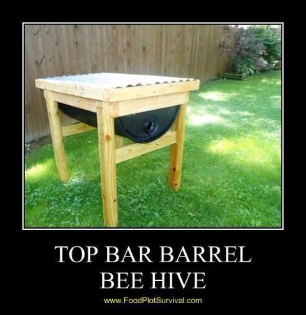 DIY Ideas With Old Barrels - Top Bar Barrel Bee Hive - Rustic Farmhouse Decor Tutorials and Projects Made With a Barrel - Easy Vintage Home Decor for Kitchen, Living Room and Bathroom - Creative Country Crafts, Dog Beds, Seating, Furniture, Patio Decor and Rustic Wall Art and Accessories to Make and Sell