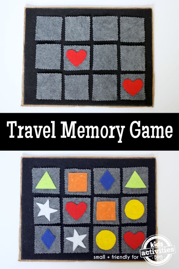 Best DIY Ideas for a Summer Road Trip - Travel Memory Game - Cool Crafts and Easy Projects to Make For Road Trips in the Car - Fun Crafts to Make for Vacation - Creative Ideas for Making Cheap Travel Ideas With Creative Money Saving Tips