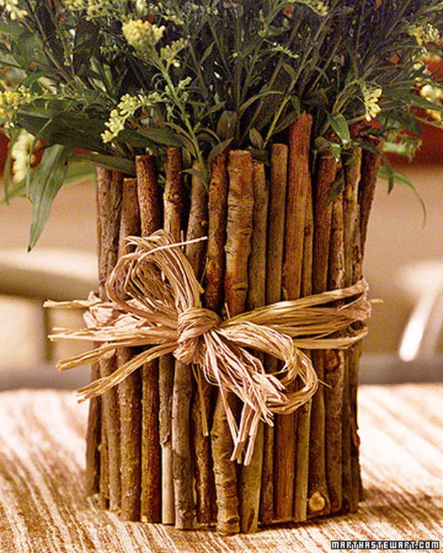 Country Crafts to Make And Sell - Twig Vase - Easy DIY Home Decor and Rustic Craft Ideas - Step by Step Farmhouse Decor To Make and Sell on Etsy and at Craft Fairs - Tutorials and Instructions for Creative Ways to Make Money - Best Vintage Farmhouse DIY For Living Room, Bedroom, Walls and Gifts #craftstosell #countrycrafts #etsyideas
