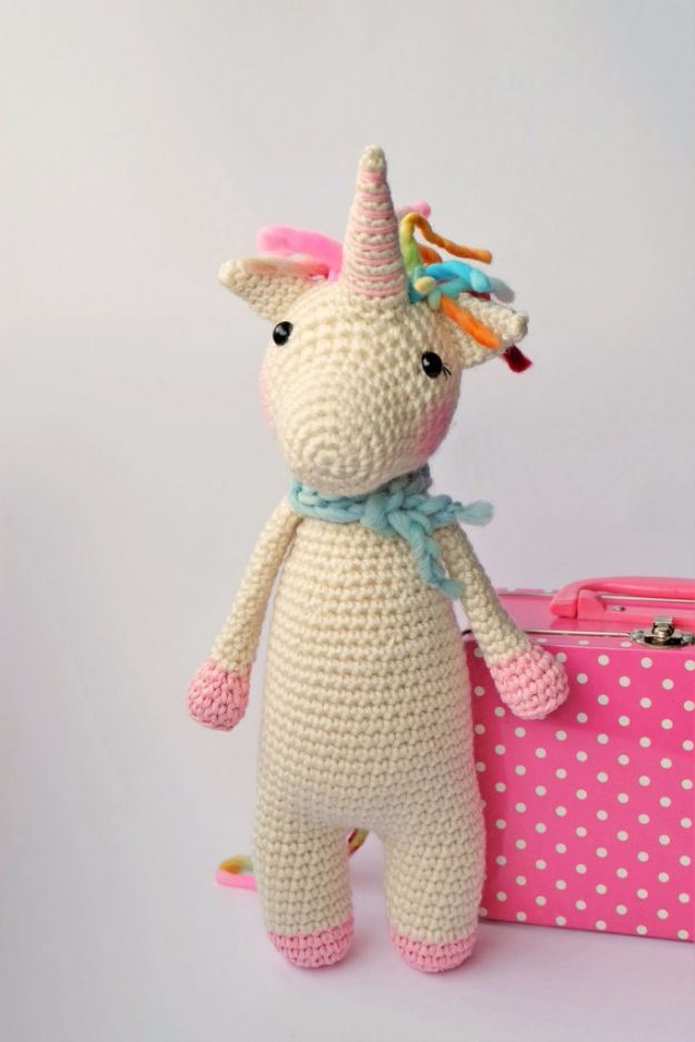 Free Amigurumi Patterns For Beginners and Pros - DIY Baby Gift Ideas to Crochet - Twinkle Toes The Unicorn - Easy Amigurimi Tutorials With Step by Step Instructions - Learn How To Crochet Cute Amigurimi Animals, Doll, Mobile, Mini Elephant, Cat, Dinosaur, Owl, Bunny, Dog - Creative Ways to Crochet Cool DIY Gifts for Kids, Teens, Baby and Adults #amigurumi #crochet