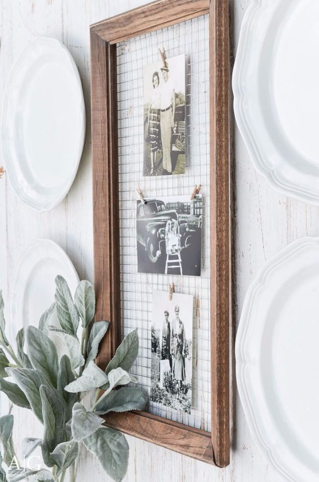 Farmhouse Decor to Make And Sell - Unique DIY Picture Frame - Easy DIY Home Decor and Rustic Craft Ideas - Step by Step Country Crafts, Farmhouse Decor To Make and Sell on Etsy and at Craft Fairs - Tutorials and Instructions for Creative Ways to Make Money - Best Vintage Farmhouse DIY For Living Room, Bedroom, Walls and Gifts #diydecor