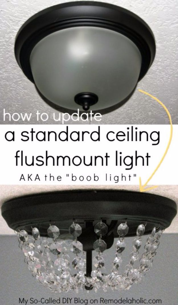 DIY Remodeling Hacks - Update Your Dome Ceiling Light - Quick and Easy Home Repair Tips and Tricks - Cool Hacks for DIY Home Improvement Ideas - Cheap Ways To Fix Bathroom, Bedroom, Kitchen, Outdoor, Living Room and Lighting - Creative Renovation on A Budget - DIY Projects and Crafts by DIY JOY http://diyjoy.com/diy-remodeling-hacks
