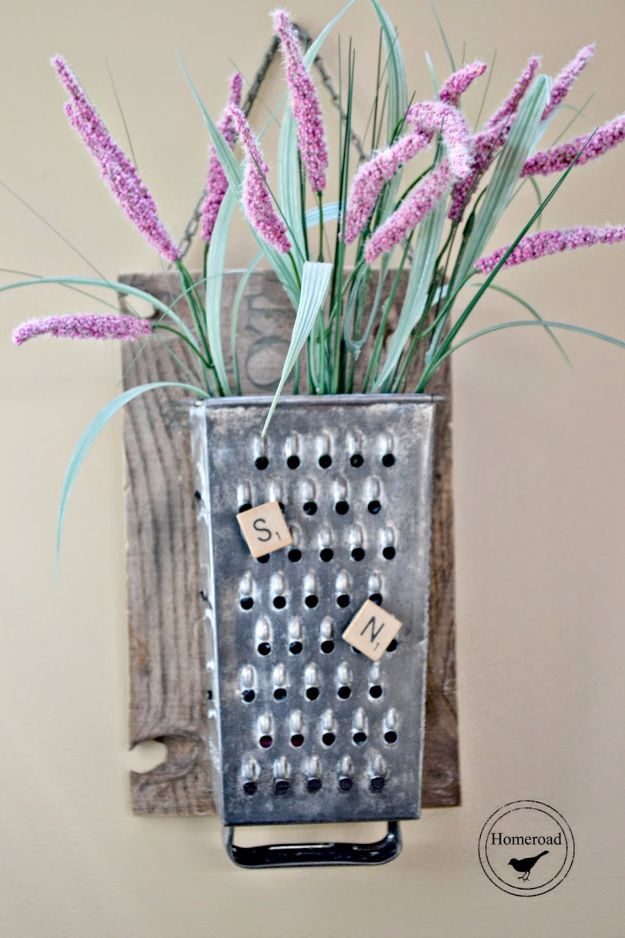 Farmhouse Decor to Make And Sell - Vintage Cheese Grater Organizer - Easy DIY Home Decor and Rustic Craft Ideas - Step by Step Country Crafts, Farmhouse Decor To Make and Sell on Etsy and at Craft Fairs - Tutorials and Instructions for Creative Ways to Make Money - Best Vintage Farmhouse DIY For Living Room, Bedroom, Walls and Gifts #diydecor