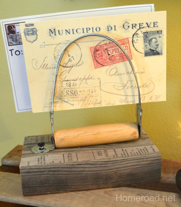 Country Crafts to Make And Sell - Vintage Pastry Blender Note Holder - Easy DIY Home Decor and Rustic Craft Ideas - Step by Step Farmhouse Decor To Make and Sell on Etsy and at Craft Fairs - Tutorials and Instructions for Creative Ways to Make Money - Best Vintage Farmhouse DIY For Living Room, Bedroom, Walls and Gifts #craftstosell #countrycrafts #etsyideas