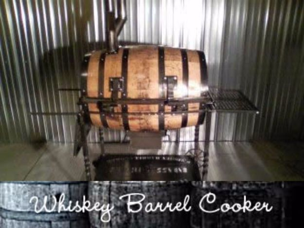 DIY Ideas With Old Barrels - Whiskey Barrel Cooker - Rustic Farmhouse Decor Tutorials and Projects Made With a Barrel - Easy Vintage Home Decor for Kitchen, Living Room and Bathroom - Creative Country Crafts, Dog Beds, Seating, Furniture, Patio Decor and Rustic Wall Art and Accessories to Make and Sell tp://diyjoy.com/diy-projects-old-barrels