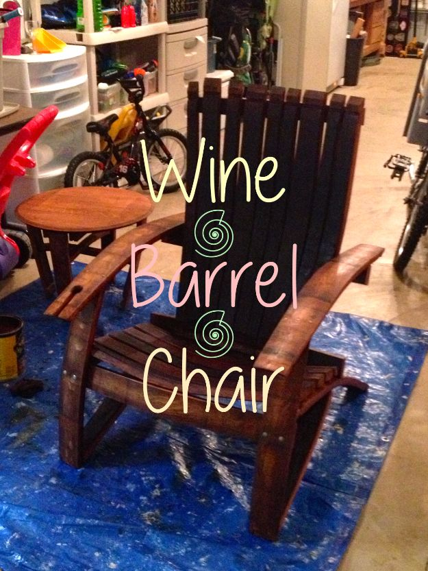 DIY Ideas With Old Barrels - Wine Barrel Chair - Rustic Farmhouse Decor Tutorials and Projects Made With a Barrel - Easy Vintage Home Decor for Kitchen, Living Room and Bathroom - Creative Country Crafts, Dog Beds, Seating, Furniture, Patio Decor and Rustic Wall Art and Accessories to Make and Sell tp://diyjoy.com/diy-projects-old-barrels