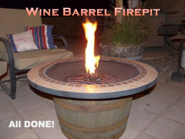 DIY Ideas With Old Barrels - Wine Barrel Fire Pit- Rustic Farmhouse Decor Tutorials and Projects Made With a Barrel - Easy Vintage Home Decor for Kitchen, Living Room and Bathroom - Creative Country Crafts, Dog Beds, Seating, Furniture, Patio Decor and Rustic Wall Art and Accessories to Make and Sell