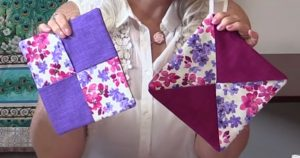 Sewing Tutorial: Simple Color Block Hot Pads