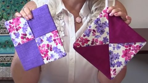 Sewing Tutorial: Simple Color Block Hot Pads | DIY Joy Projects and Crafts Ideas
