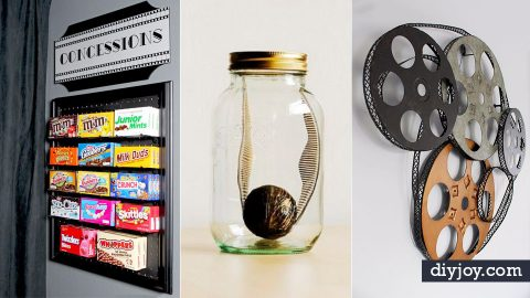 These 34 DIY Ideas Will Make Your Media Room The Retreat of Your Dreams | DIY Joy Projects and Crafts Ideas