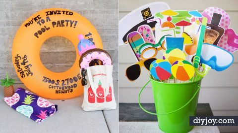 31 DIY Pool Party Ideas To Cool Off Your Summer | DIY Joy Projects and Crafts Ideas