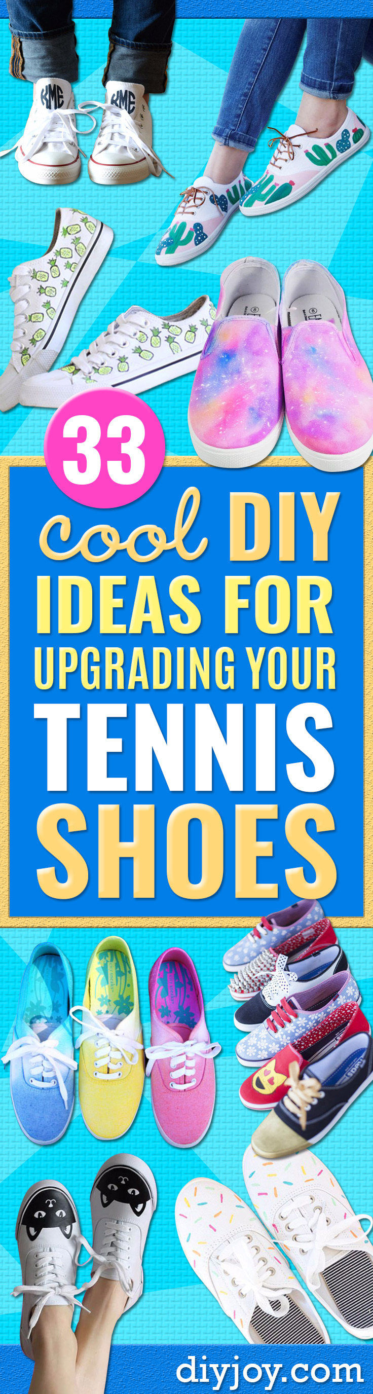 ccc8b5cff224 33 DIY Ideas for Upgrading Your Tennis Shoes