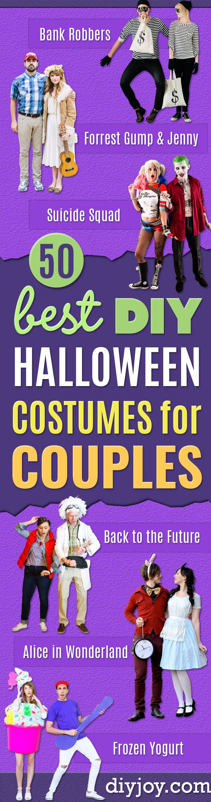DIY Halloween Costumes for Couples - Funny, Creative and Scary Ideas for Parties, College Party - Unique and Cute Project Idea for Disney Characters, Superhero, Movie Themes, Bonnie and Clyde, Homemade Costume Projects for Boyfriends - Quick Last Minutes Halloween Costume Ideas from Pinterest