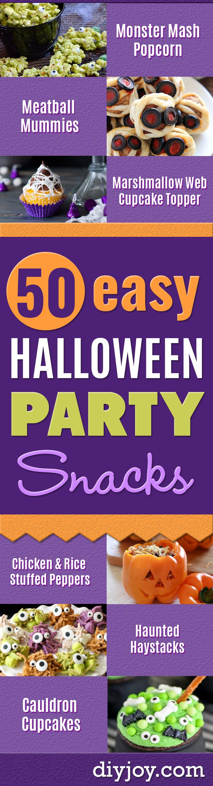 Halloween Party Snacks - Healthy Recipe Ideas for Halloween - Creative Idea for Kids for School, Teens and Adults - Easy and Quick Recipes and Idea for Dips, Chips, Spooky Cookies and Treats - Appetizers and Finger Foods Made With Vegetables, No Candy, Cheap Food, Scary Desserts and DIY Party Foods With Step by Step Tutorials