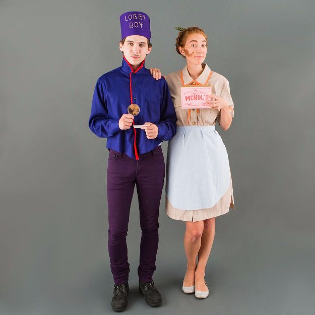 DIY Halloween Costumes for Couples - Be the Cast of Grand Budapest Hotel for Halloween - Funny, Creative and Scary Ideas for Parties, College Party - Unique and Cute Project Idea for Disney Characters, Superhero, Movie Themes, Bonnie and Clyde, Homemade Costume Projects for Boyfriends - Quick Last Minutes Halloween Costume Ideas from Pinterest http://diyjoy.com/best-halloween-costumes-couples