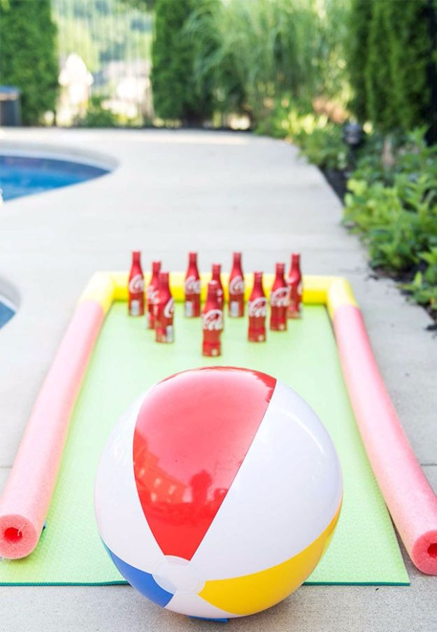 DIY Pool Party Ideas - Beach Ball Bowling Game - Easy Decor Ideas for Pools - Best Pool Floats, Coolers, Party Foods and Drinks - Entertaining on A Budget - Step by Step Tutorials and Instructions - Summer Games and Fun Backyard Parties
