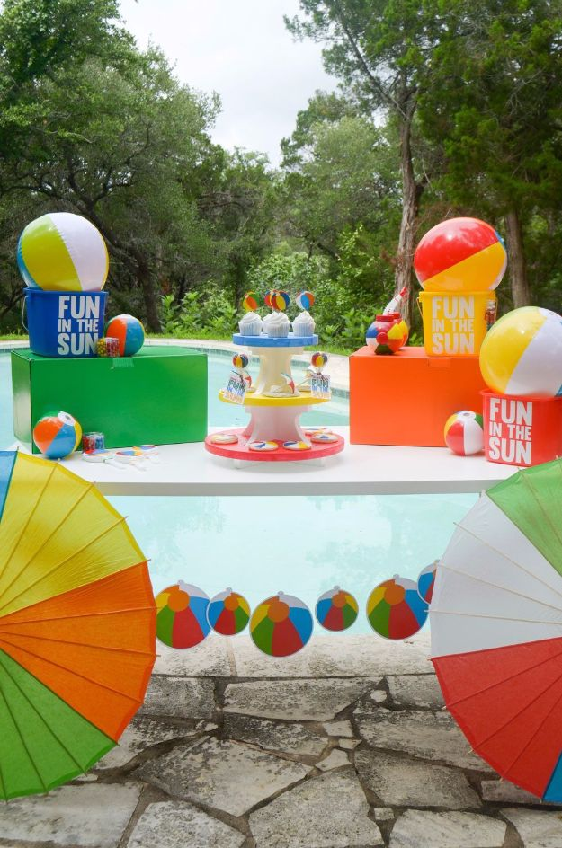 DIY Pool Party Ideas - Beach Ball Summer Party - Easy Decor Ideas for Pools - Best Pool Floats, Coolers, Party Foods and Drinks - Entertaining on A Budget - Step by Step Tutorials and Instructions - Summer Games and Fun Backyard Parties