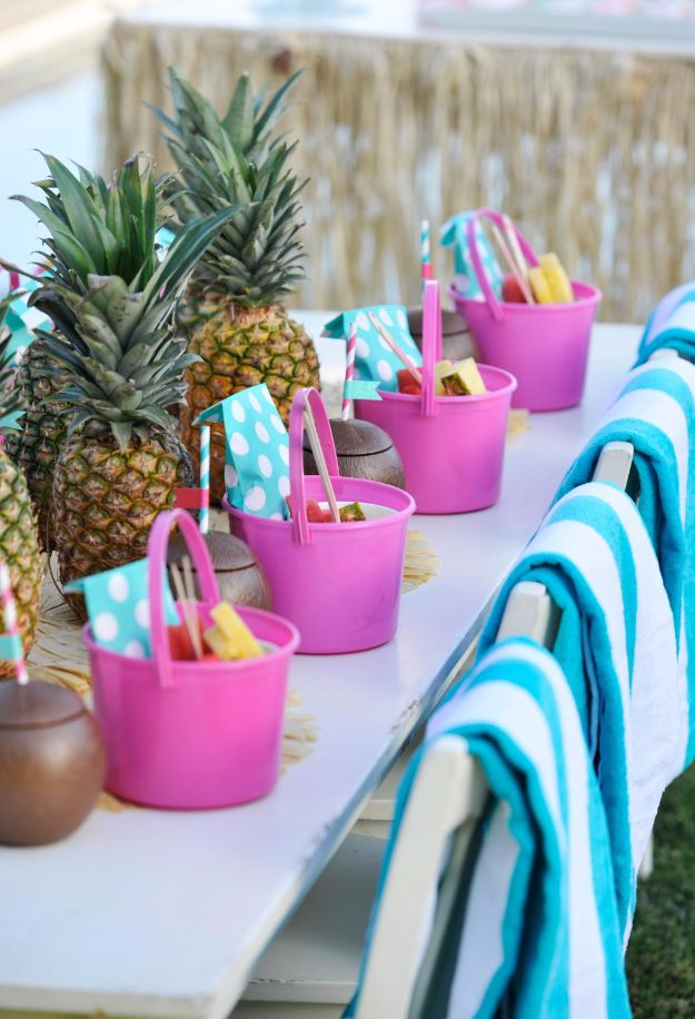 DIY Pool Party Ideas - Beach Bucket Party Favor - Easy Decor Ideas for Pools - Best Pool Floats, Coolers, Party Foods and Drinks - Entertaining on A Budget - Step by Step Tutorials and Instructions - Summer Games and Fun Backyard Parties cket Party Favor