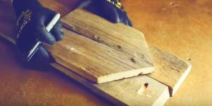 He Traces Onto Wooden Pallets And Nails Them Together For An Item You Must Have!