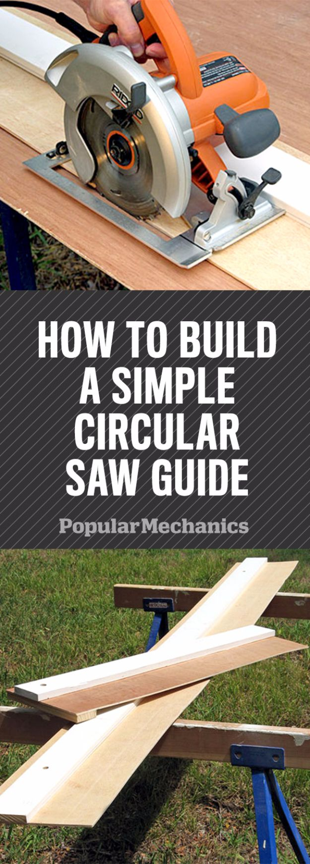 Cool Woodworking Tips - Build a Simple Circular Saw Guide for Straighter Cuts - Easy Woodworking Ideas, Woodworking Tips and Tricks, Woodworking Tips For Beginners, Basic Guide For Woodworking - Refinishing Wood, Sanding and Staining, Cleaning Wood and Upcycling Pallets #woodworking