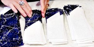 She Sews Triangles To Long Strips And Stacks Them. What She Makes Is So Extraordinary!
