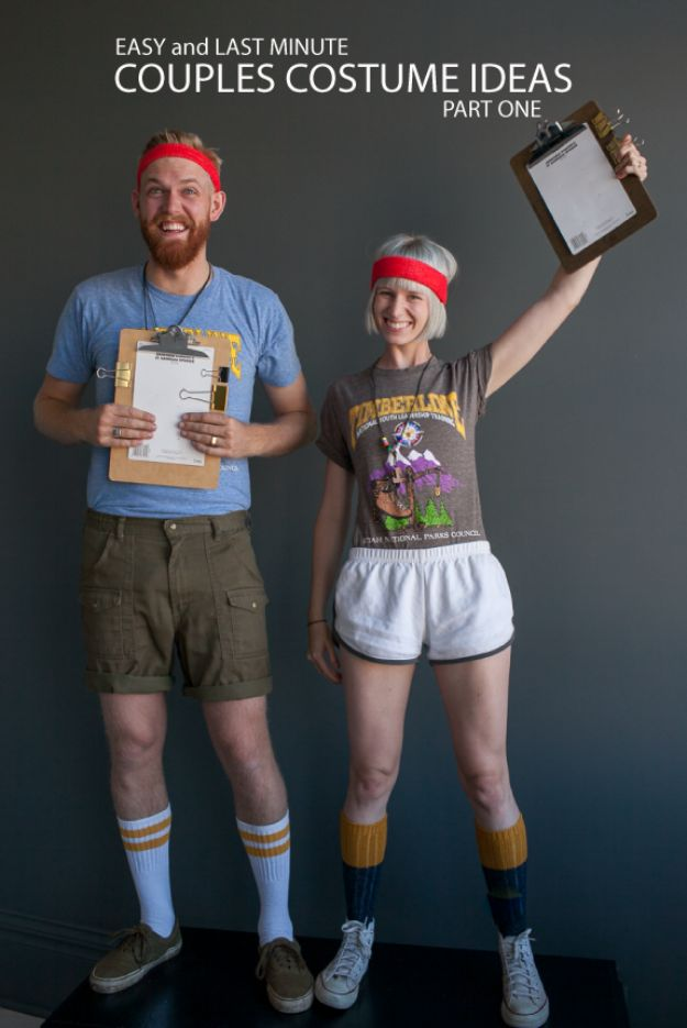 DIY Halloween Costumes for Couples - Camp Counselors - Funny, Creative and Scary Ideas for Parties, College Party - Unique and Cute Project Idea for Disney Characters, Superhero, Movie Themes, Bonnie and Clyde, Homemade Costume Projects for Boyfriends - Quick Last Minutes Halloween Costume Ideas from Pinterest http://diyjoy.com/best-halloween-costumes-couples