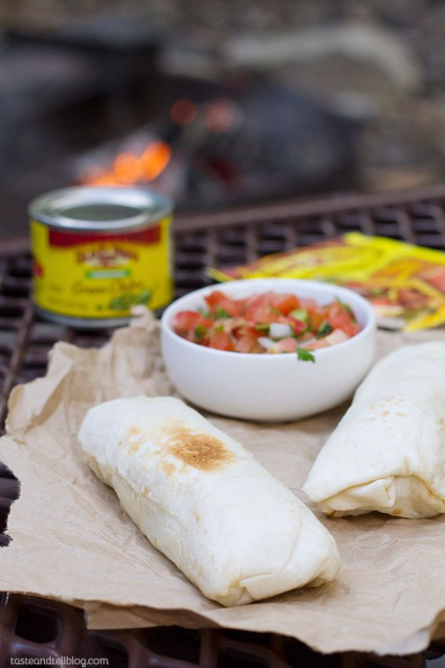 Tin Foil Camping Recipes - Campfire Breakfast Burritos - DIY Tin Foil Dinners, Ideas for Camping Trips and On Grill. Hamburger, Chicken, Healthy, Fish, Steak , Easy Make Ahead Recipe Ideas for the Campfire. Breakfast, Lunch, Dinner and Dessert, Snacks all Wrapped in Foil for Quick Cooking #camping #tinfoilrecipes #campingrecipes