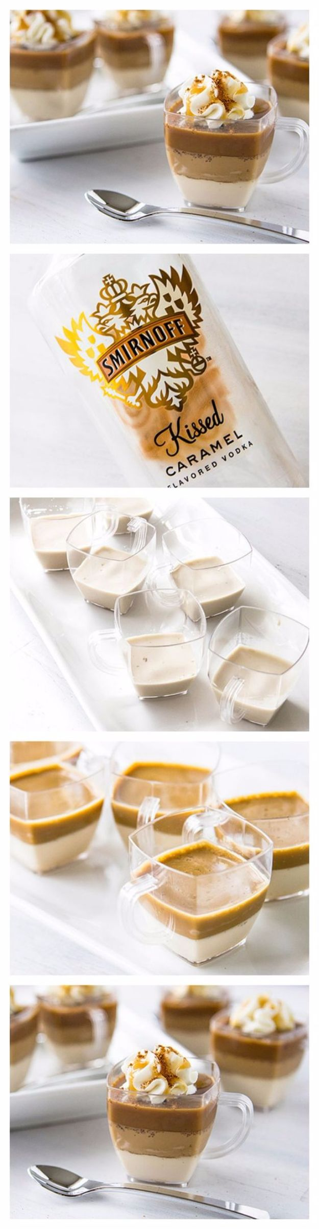 Best Jello Shot Recipes - Caramel Macchiato Jello Shots - Easy Jello Shots Recipe Ideas with Vodka, Strawberry, Tequila, Rum, Jolly Rancher and Creative Alcohol - Unique and Fun Drinks for Parties like Whiskey Fireball, Fall Halloween Versions, Malibu, 4th of July, Birthday, Summer, Christmas and Birthdays http://diyjoy.com/best-jello-shot-recipes