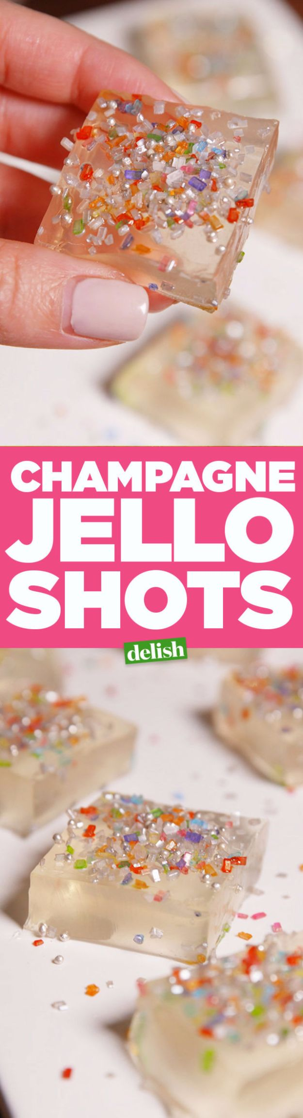 Best Jello Shot Recipes - Champagne Jello Shots - Easy Jello Shots Recipe Ideas with Vodka, Strawberry, Tequila, Rum, Jolly Rancher and Creative Alcohol - Unique and Fun Drinks for Parties like Whiskey Fireball, Fall Halloween Versions, Malibu, 4th of July, Birthday, Summer, Christmas and Birthdays #jelloshots #partydrinks #drinkrecipes