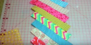 She Places Equal Strips Of Fabric Side By Side And You Will Love What She Does Next!
