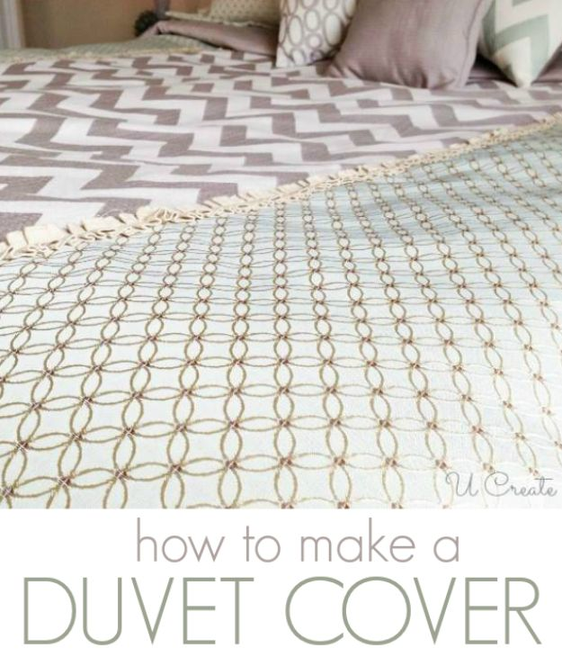 DIY Duvet Covers - Create Your Own Duvet Cover - Easy Sewing Projects and No Sew Ideas for Duvets - Cheap Bedroom Decor Ideas on A Budget - How To Sew A Duvet Cover and Bedding Tutorial - Creative Covers for Bed - Quick Projects for Making Designer Duvets - Awesome Home Decor Ideas and Crafts #duvet #diybedroom #roomdecor #sewingideas