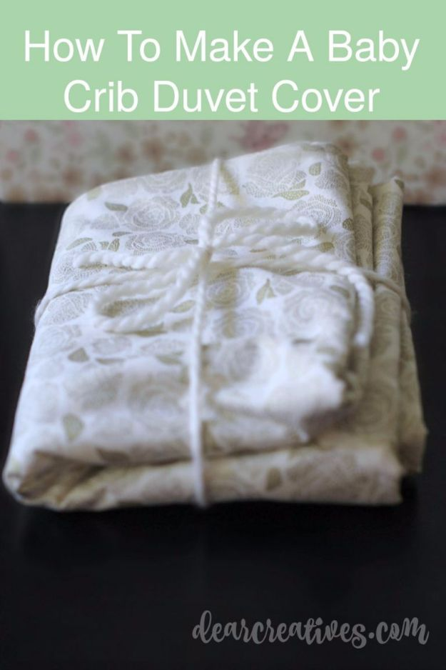 DIY Duvet Covers - Crib Size Duvet Cover - Easy Sewing Projects and No Sew Ideas for Duvets - Cheap Bedroom Decor Ideas on A Budget - How To Sew A Duvet Cover and Bedding Tutorial - Creative Covers for Bed - Quick Projects for Making Designer Duvets - Awesome Home Decor Ideas and Crafts #duvet #diybedroom #roomdecor #sewingideas