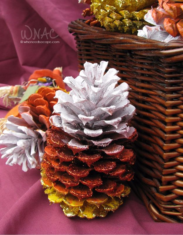 Best Crafts for Fall - DIY Candy Corn Pine Cones - DIY Mason Jar Ideas, Dollar Store Crafts, Rustic Pumpkin Ideas, Wreaths, Candles and Wall Art, Centerpieces, Wedding Decorations, Homemade Gifts, Craft Projects with Leaves, Flowers and Burlap, Painted Art, Candles and Luminaries for Cool Home Decor - Quick and Easy Projects With Step by Step Tutorials and Instructions http://diyjoy.com/best-crafts-for-fall